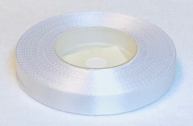 Satin Ribbon White (1,2cm, 32m)