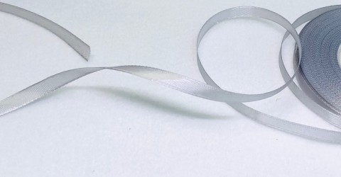 Satin Ribbon Grey (0,6cm, 1m)