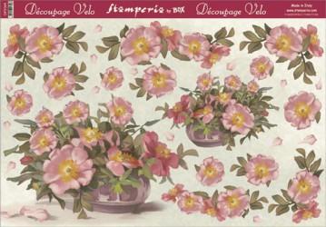 Dekupažinis popierius Gėlės