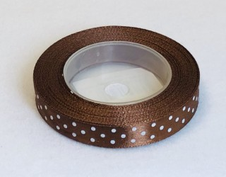 Satin Ribbon Brown (1,2cm, 18m)