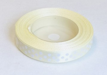 Satin Ribbon Cream (1,2cm, 18m)