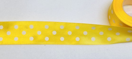 Satin Ribbon Yellow (3,8cm, 1m)