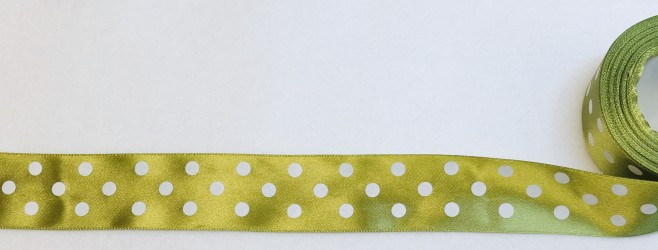 Satin Ribbon Dark Olive (3,8cm, 1m)