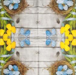 Napkin Tulips and eggs