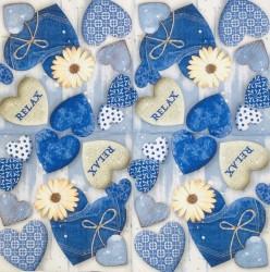 Servetėlė Mėlynos širdelės
