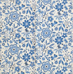 Napkin blue flowers