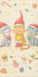 Popierinė nosinaitė Kačiukai su kepurėmis