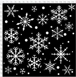 Vinyl stencil Snowflakes