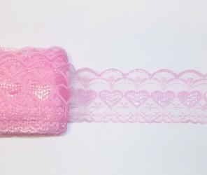 Lace trim Pink (1 m x 7,5 cm)