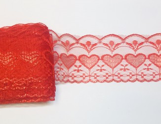 Lace trim Red (1 m x 7,5 cm)
