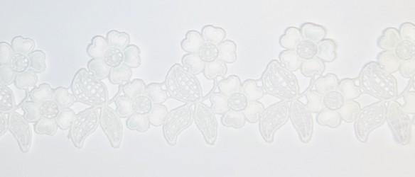Juostėlė Gėlės Baltos (1 m, 6,5cm)