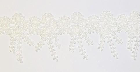 Juostėlė Gėlės Pieno balta (1 m, 9 cm)