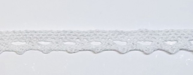 Lace trim White (1m, 1cm)