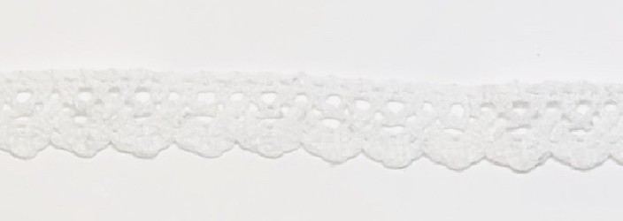 Lace trim White (1m, 1,5cm)