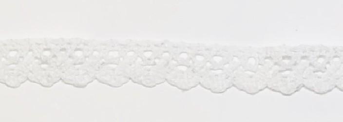 Medvilninė juostelė Balta (1 m, 1,5 cm)