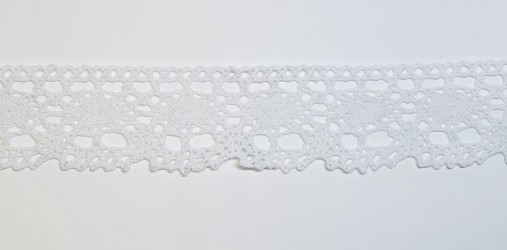 Medvilninė juostelė Balta (1 m, 4 cm)