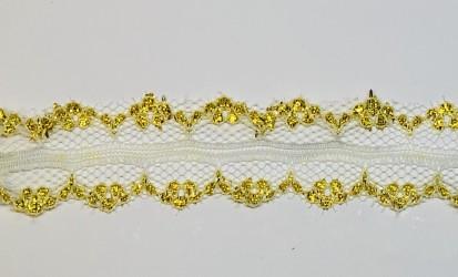 Juostelė Aukso/balta (1 m, 3 cm)