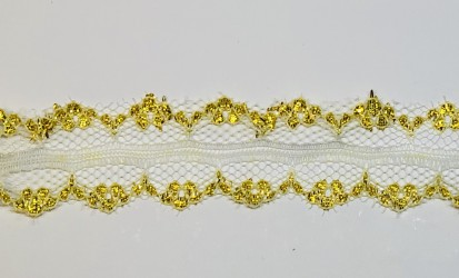 Lace trim Gold (1m, 3cm)
