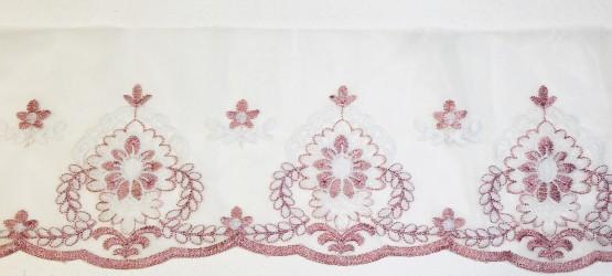 Juostelė rožinė/balta (19 cm pločio, 1 m)