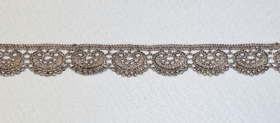 Lace trim dark beige 2,5 cm