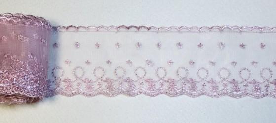 Lace trim 9,5 cm Pink