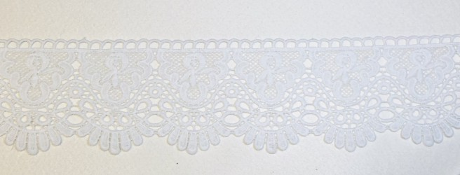 Lace trim 10 cm white