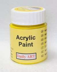 Matt acrylic paint Yellow 25 ml