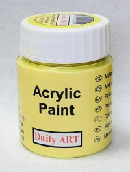 Matt acrylic paint Lemon yellow 25 ml