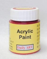 Matiniai akriliniai dažai Tamsiai raudona (25 ml)