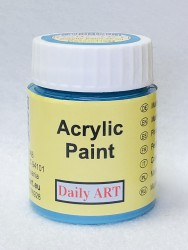 Matt acrylic paint Blue turquoise 25 ml