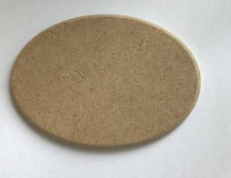 Ovalas iš MDF (10 cm x 7 cm)