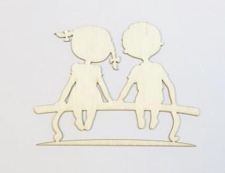 Vaikai ant suoliuko