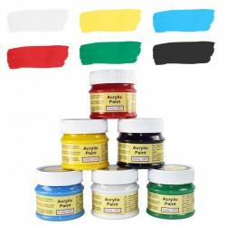Matinių akrilinių dažų rinkinys - pagrindinės spalvos (6...
