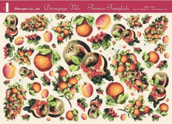 Decoupage paper Fruits