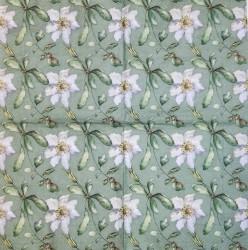 Servetėlė Gėlės (žalias fonas)