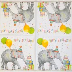 Servetėlė Drambliuko gimtadienis