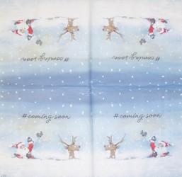Servetėlė Kalėdų senis sniege