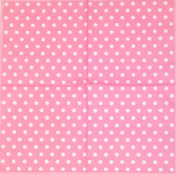 Servetėlė Taškeliai (rožinis fonas)