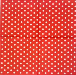 Servetėlė Taškeliai (raudonas fonas)