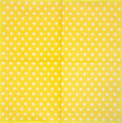Servetėlė Taškeliai (geltonas fonas)