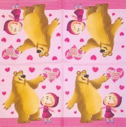 Napkin Girls with bear