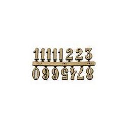 Skaičiai laikrodžiui auksiniai (2 cm aukščio)