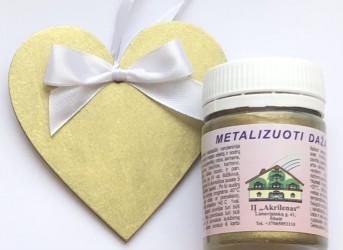Metalizuoti dažai Ryškus auksas (50 ml)