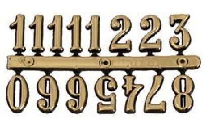 Skaičiai laikrodžiui (0,9 cm)