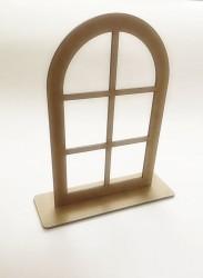 Pastatomas langas iš MDF