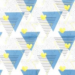 Servetėlė Trikampiai mėlyni