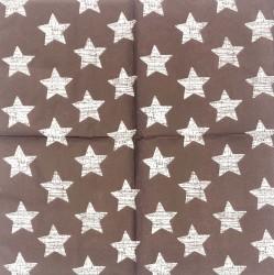 Servetėlė Žvaigždės (rudas fonas)