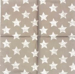 Servetėlė Žvaigždės (pilkai rusvas fonas)