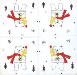Servetėlė Kalėdų meškis