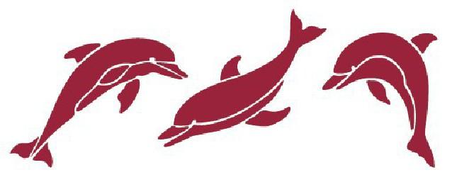 Trafaretas - delfinai